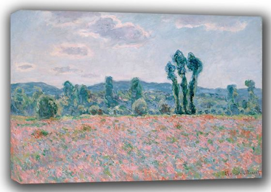 Monet, Claude: Poppy Field (1887). Fine Art Canvas. Sizes: A4/A3/A2/A1 (001497)